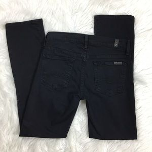 ✨ 7 For All Mankind Straight Leg Black Jeans 032